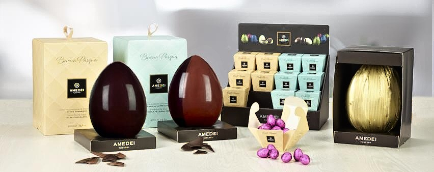 Amedei  – veľkonočné vajíčka v baleniach farby jari