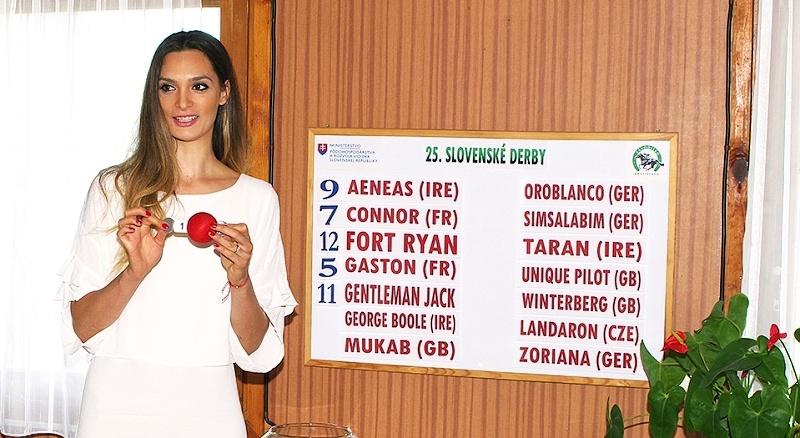 Žrebovanie štartových čísel 25. Slovenského derby